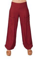 Pantalon pour Femme Fluide et Agréable Cédric Bordeaux 282247