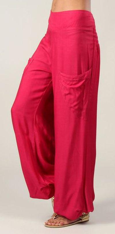Pantalon pour femme fluide et agréable Cédric rose foncé 282253