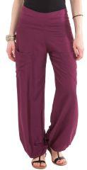 Pantalon pour Femme Fluide et Agréable Cédric Violet 282251