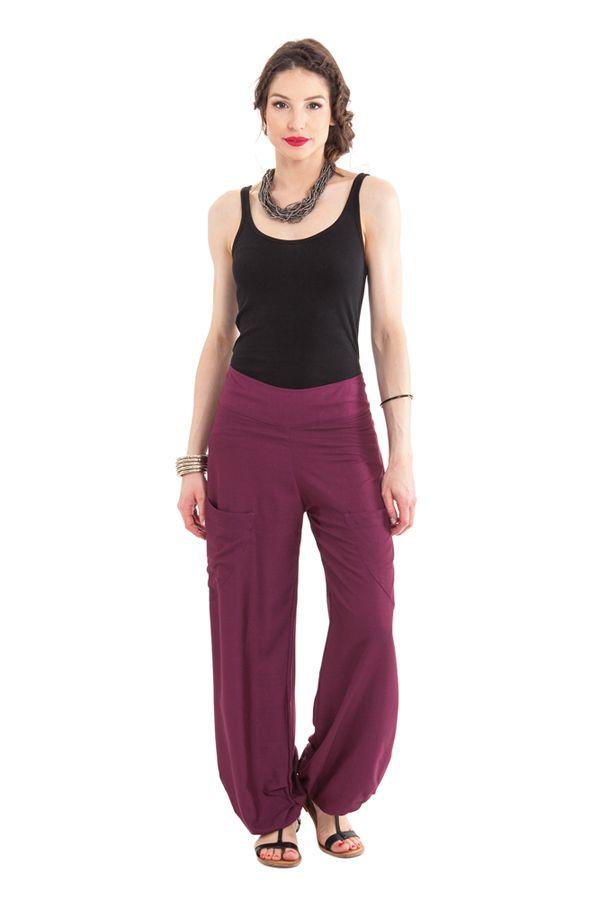 Pantalon pour Femme Fluide et Agréable Cédric Violet 282252