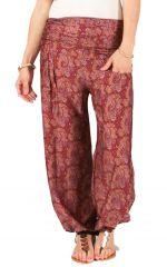 Pantalon pour Femme Fluide et Ethnique Pascal Bordeaux 284152