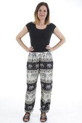 Pantalon pour femme fluide et taille élastiquée Grégoire 310537