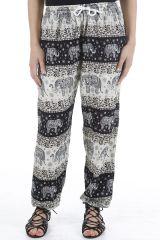 Pantalon pour femme fluide et taille élastiquée Grégoire 310538