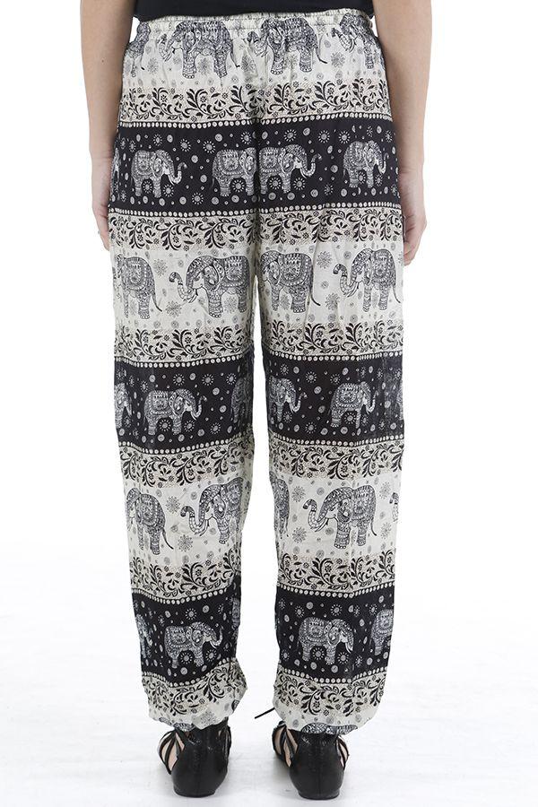 Pantalon pour femme fluide et taille élastiquée Grégoire 310539