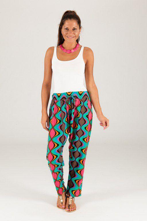 Pantalon pour Femme Imprimé et Coloré Selvin Vagues 283463