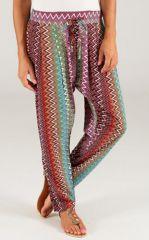 Pantalon pour Femme Imprimé et Coloré Selvin ZigZag 283459