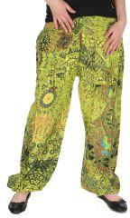 Pantalon pour Femme Imprimé et Original Romulad Anis 283111