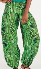 Pantalon pour femme large Ethnique et Agréable Roméo Vert 276684