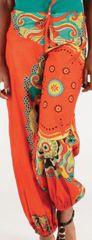 Pantalon pour femme large Ethnique et Coloré Igor Orange 276688