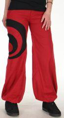 Pantalon pour Femme léger Ethnique et Bouffant Omar Rouge 278453