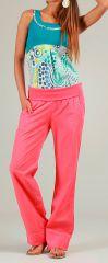 Pantalon pour Femme Original et Coloré Cassi Corail 276987