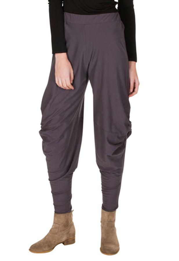 33281a2b98a187 Pantalon chic pour femme original et ample gris Binta