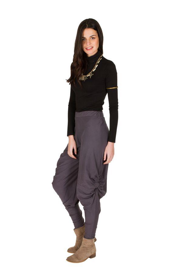 pantalon chic pour femme original et ample gris binta. Black Bedroom Furniture Sets. Home Design Ideas