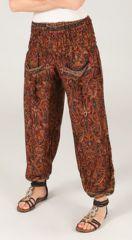 Pantalon pour femme Rouille Ethnique et Féminin Volva 287105