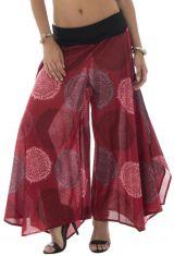 Pantalon pour femme très Ample et Asymétrique Castello Grenat 292282