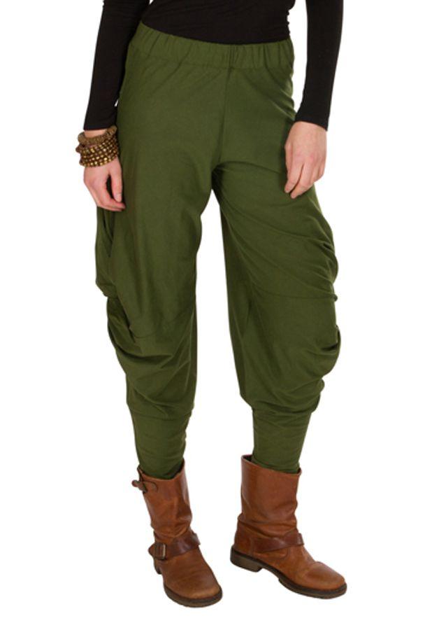 ed352dea211 Pantalon pour femme Vert ample et ethnique Kylie 298426