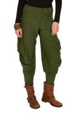 Pantalon pour femme Vert ample et ethnique Kylie 298426