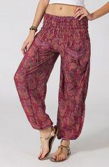 Pantalon pour Femme Volva Ethnique et Féminin Framboise 287107