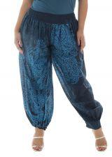 Pantalon pour femmes rondes coupe bouffante bleu Joss 291914