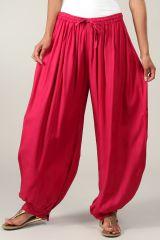 Pantalon Rose Foncé pour femme bouffant Ethnique et Coloré Gilian 282922