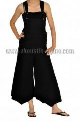Pantalon salopette patte d'éph baba noir 239665