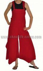 Pantalon salopette patte d'éph baba rouge 239801