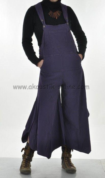 Pantalon salopette patte d'éph baba violet 238131