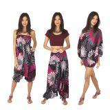 Pantalon sarouel 3en1 transformable original et coloré Kaline 317065