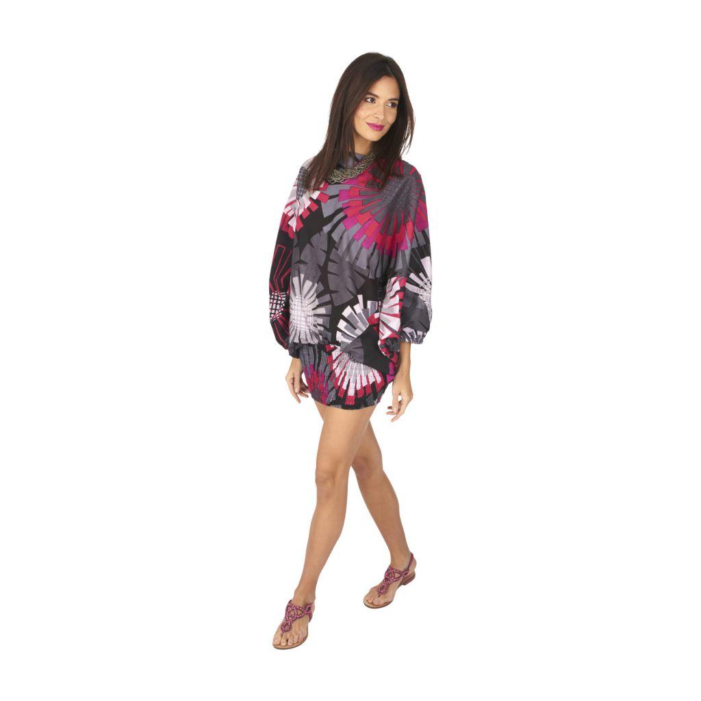 Pantalon sarouel 3en1 transformable original et coloré Kaline 317066