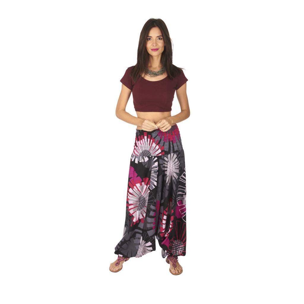 Pantalon sarouel 3en1 transformable original et coloré Kaline 317067