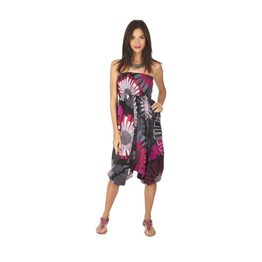 Pantalon sarouel 3en1 transformable original et coloré Kaline 317068