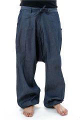 Pantalon sarouel en jean pour homme fourche haute Nico 304648