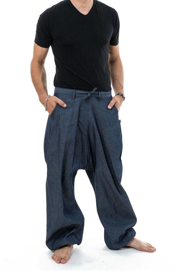 Pantalon sarouel en jean pour homme fourche haute Nico 304649