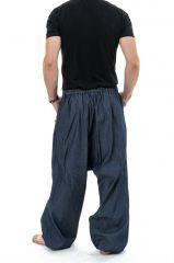 Pantalon sarouel en jean pour homme fourche haute Nico 304650