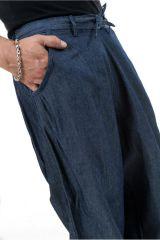 Pantalon sarouel en jean pour homme fourche haute Nico