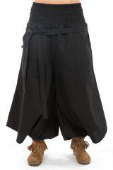 Pantalon sarouel femme pour un look effet jupe ethnique Fania 304716