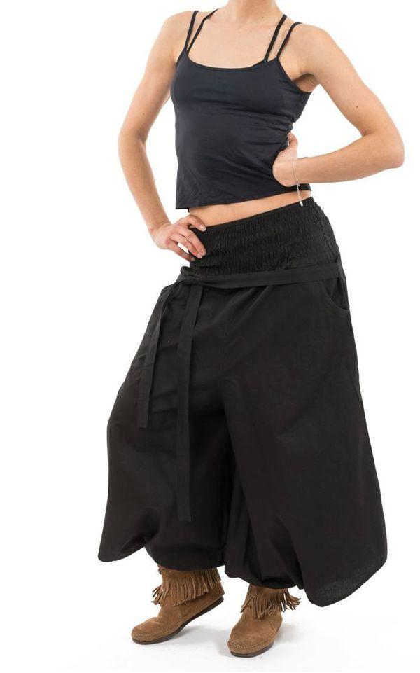 Pantalon sarouel femme pour un look effet jupe ethnique Fania 304717