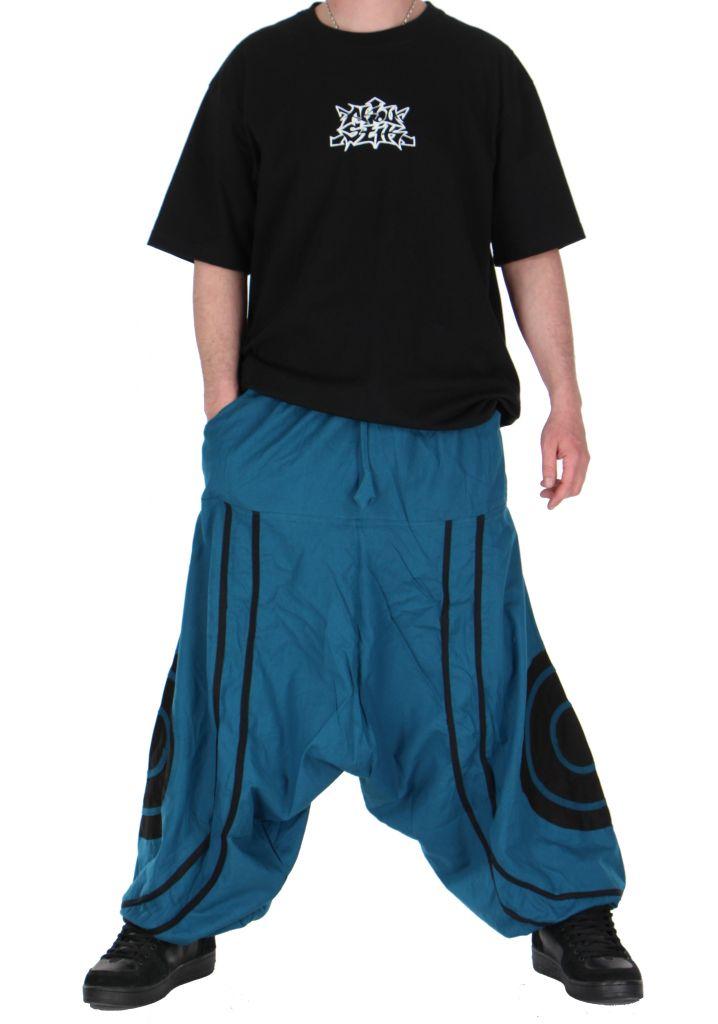 Pantalon sarouel homme soane bleu 260993