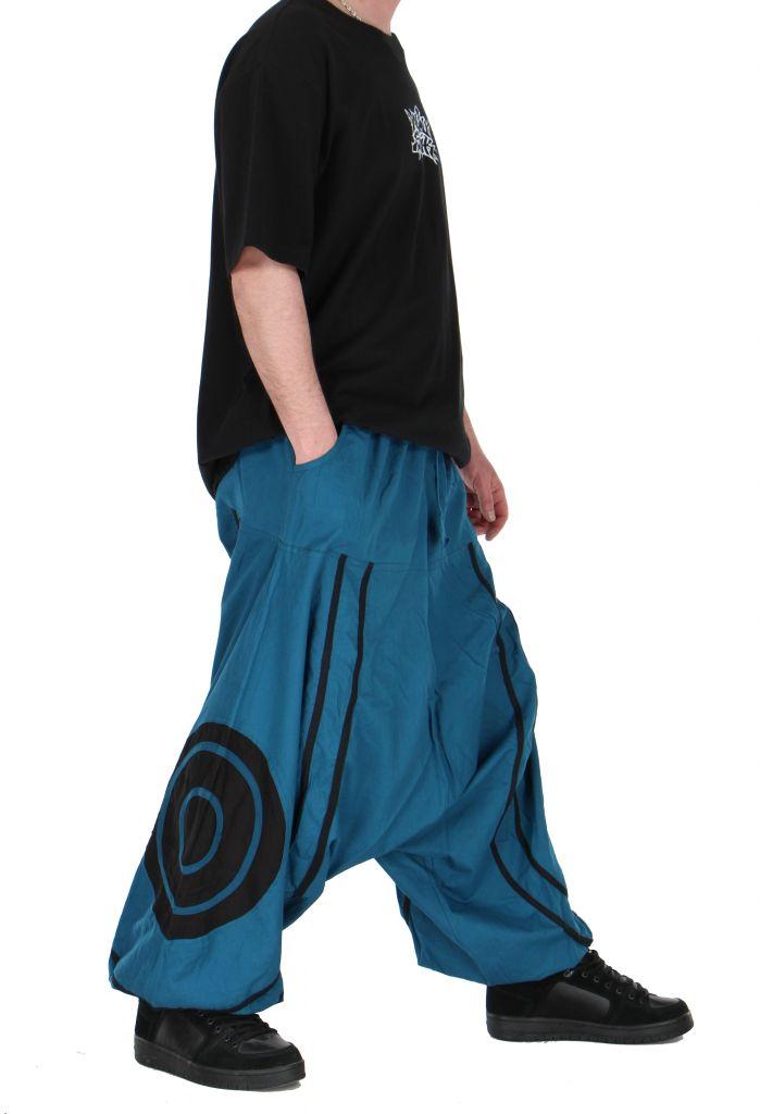 Pantalon sarouel homme soane bleu 260994