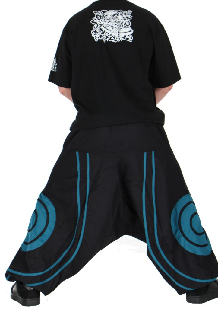 Pantalon sarouel homme soane noir et bleu 260992
