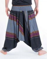 Pantalon sarouel tendance ethnique coloré brillant noir Aladiib 302954