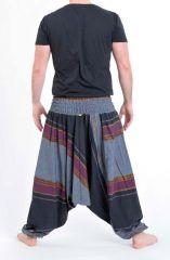 Pantalon sarouel tendance ethnique coloré brillant noir Aladiib 302956