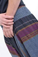 Pantalon sarouel tendance ethnique coloré brillant noir Aladiib 302957