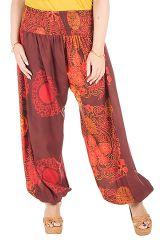 Pantalon size plus en 100% rayonne avec imprimés Galla 295217