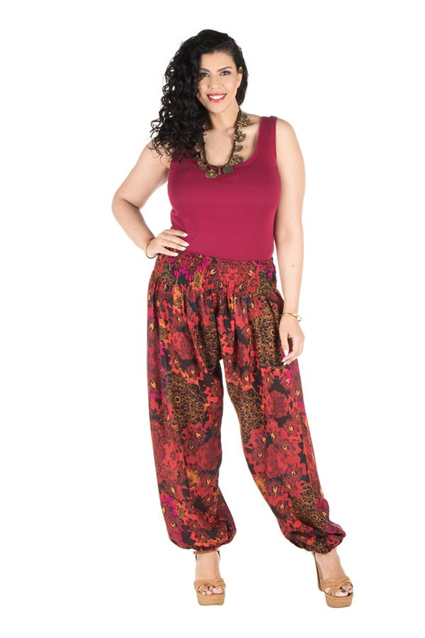 Pantalon size plus idéal été avec coupe bouffante Galla 295122