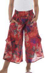 Pantalon style bohème avec ouverture aux jambes Samy 294142