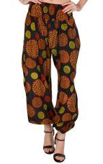 Pantalon style seventies avec smocks à la taille Adaline 294922