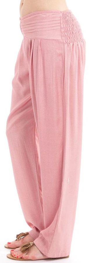 Pantalon taille basse pour femme Ethnique et Original Giulio Vieux Rose 282322