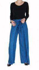 Pantalon thai portefeuille bleu 268972