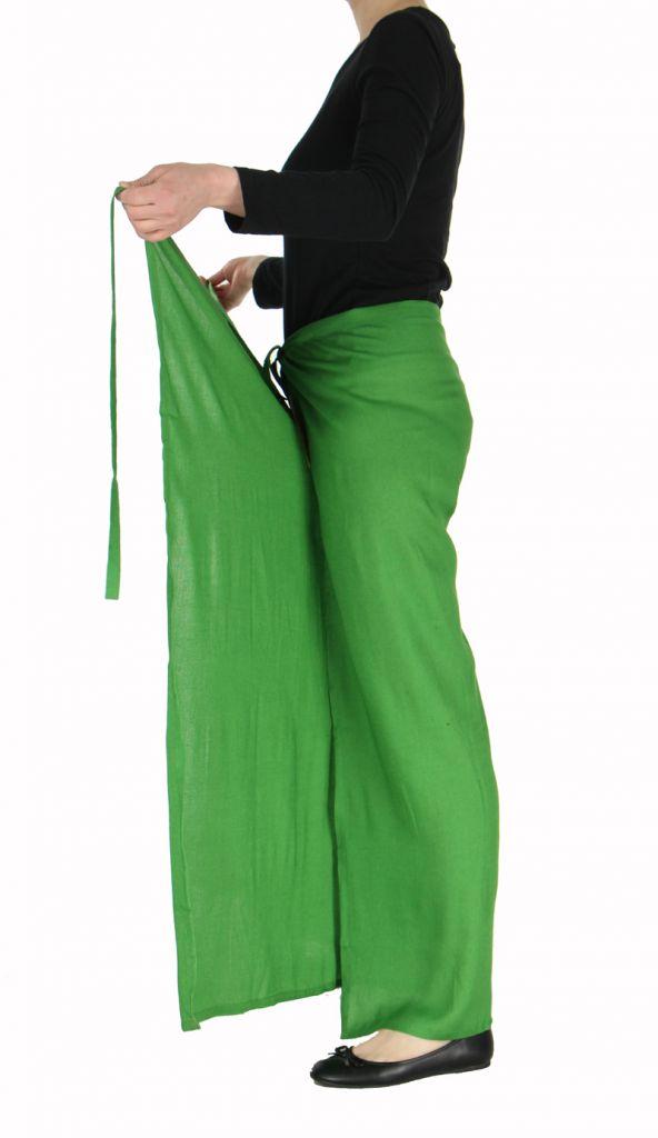 Pantalon thai portefeuille vert 268957